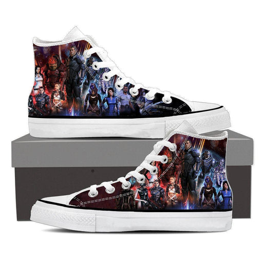 Mass Effect Galatic War Characters Converse Sneaker Shoes
