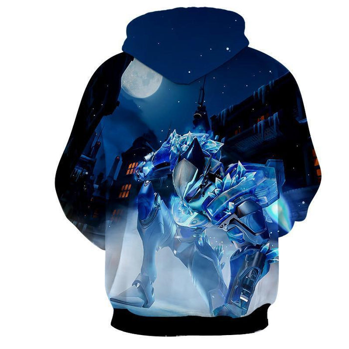 Overwatch Pharah Captain Frostbite Skin Dope Style Hoodie