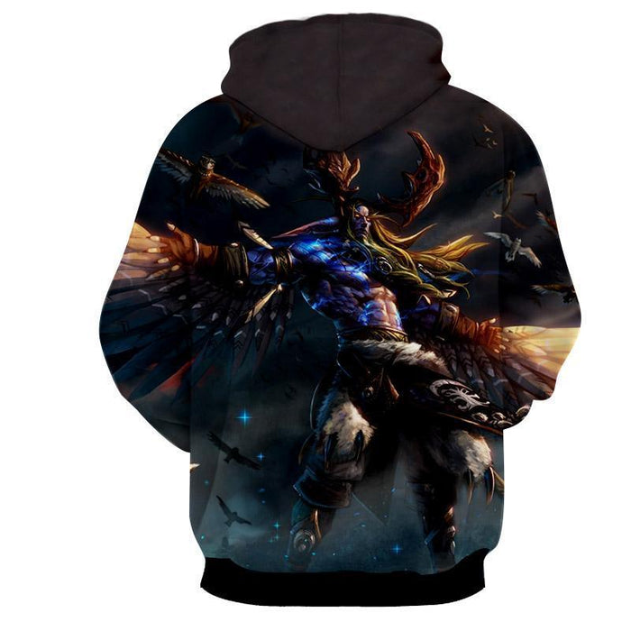 World of Warcraft Malfurion Night Elf Druid Dope Hoodie