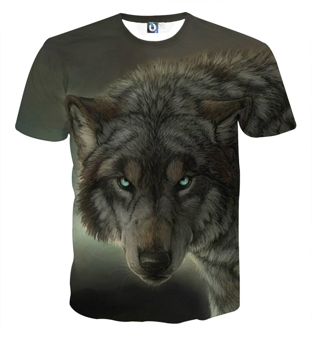 Intimidating Lone Wolf Realistic Design Fashion T-Shirt
