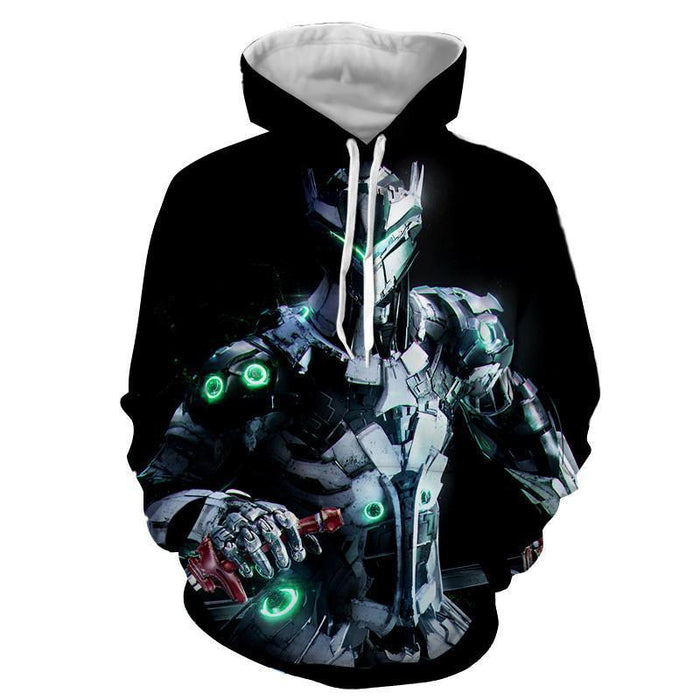 Overwatch Genji Cyborg Ninja Gaming Inspired Winter Hoodie