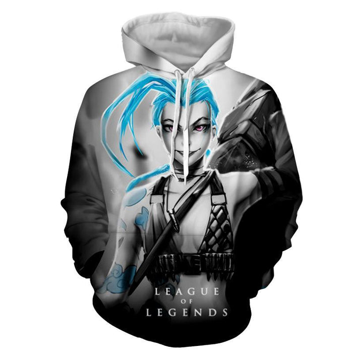 League of Legends Jinx Loose Cannon Trendy 3D Design Hoodie