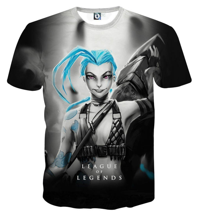 League of Legends Jinx Loose Cannon Trendy 3D Design T-shirt