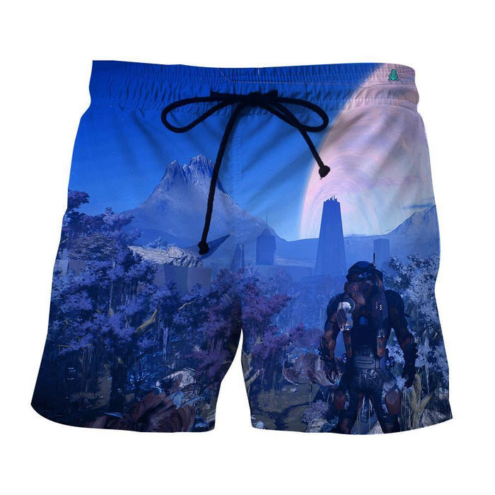 Mass Effect Andromeda Planet Alien Concept Game Shorts - Superheroes Gears
