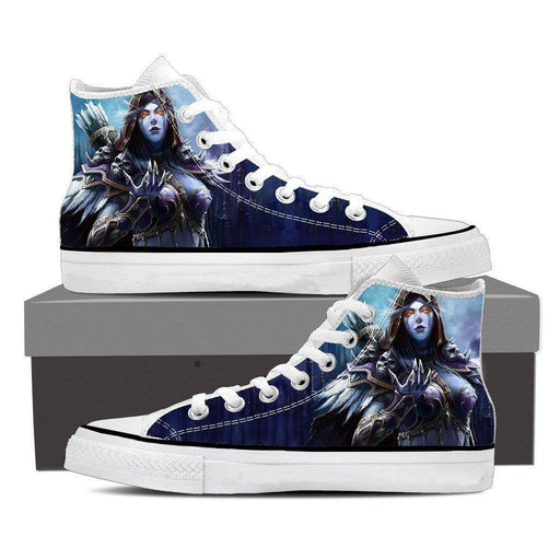 World of Warcraft Sylvanas Night Elf Archer Fan Art Sneakers Converse Shoes