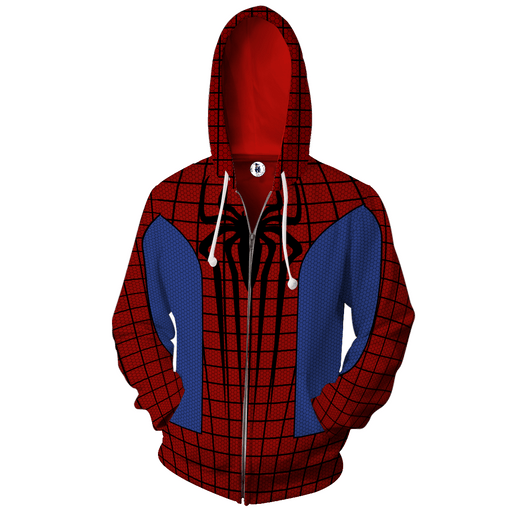 Marvel Spider-Man Super Hero 3D Cosplay Red Zip Up Hoodie