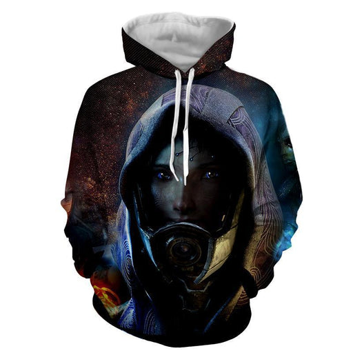 Mass Effect Tali Zorah Mask Portrait Game Theme Hoodie