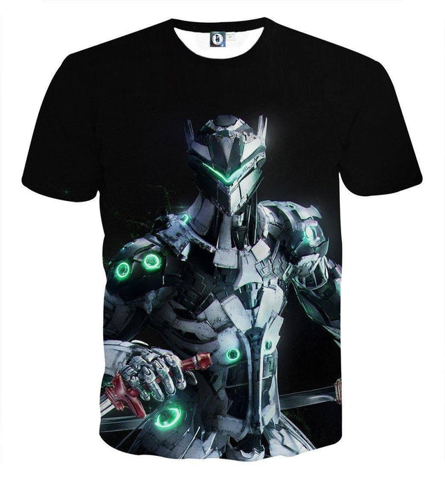 Overwatch Genji Cyborg Ninja Gaming Inspired Design T-Shirt