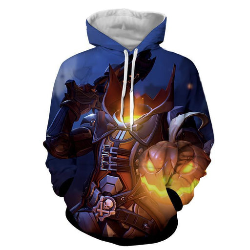 Overwatch Reaper Pumpkin Head Halloween Dope Design Hoodie