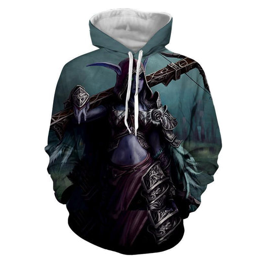 World of Warcraft Sylvanas Windrunner Cool Fan Art Hoodie