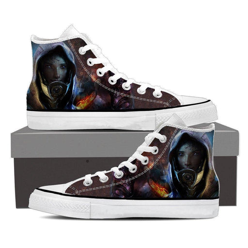 Mass Effect Tali Zorah Mask Portrait Converse Sneaker Shoes