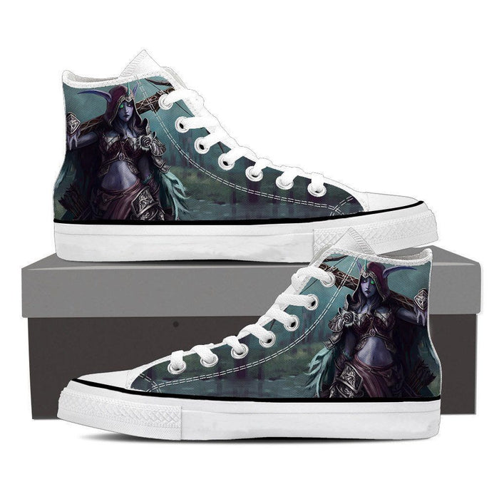 World of Warcraft Sylvanas Windrunner Cool Fan Art Sneakers Converse Shoes