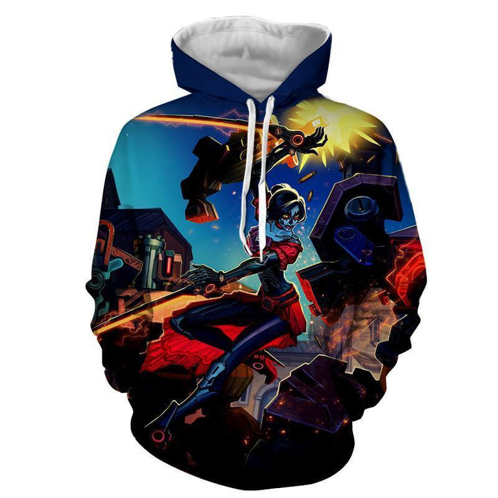 Overwatch Day of The Dead Hero Fan Art Theme Concept Hoodie