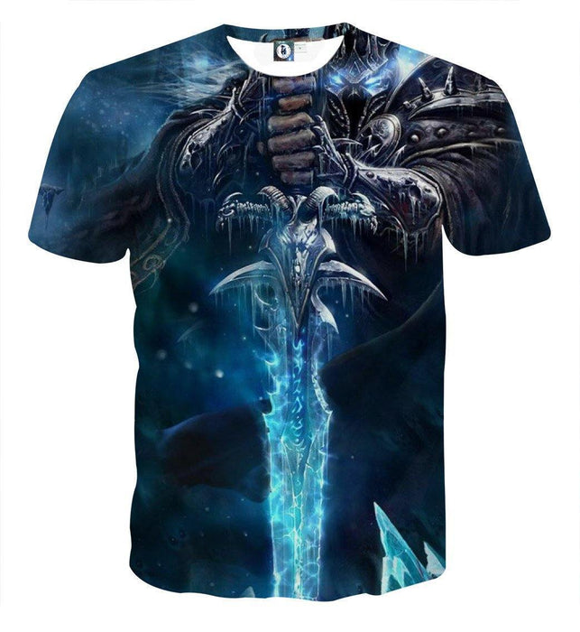 World of Warcraft Arthas Lich King Vibrant Gaming T-Shirt