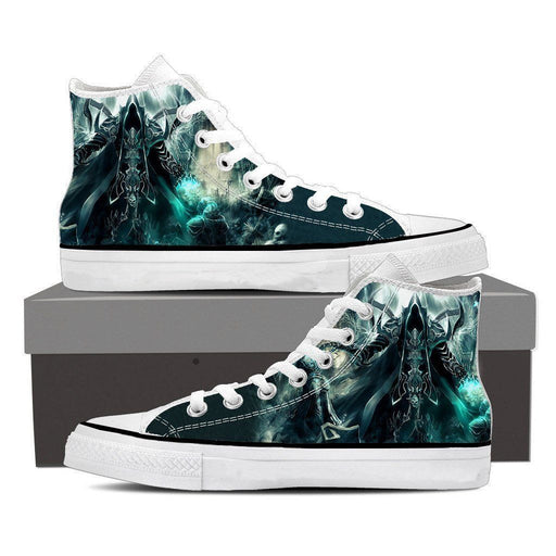 Diablo 3 Reaper of Soul Mathael Death Angel Game Sneakers Converse Shoes