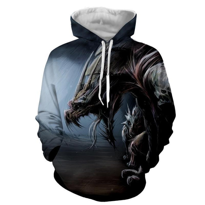 World of Warcraft Dragon Creature Fan Art Design Hoodie