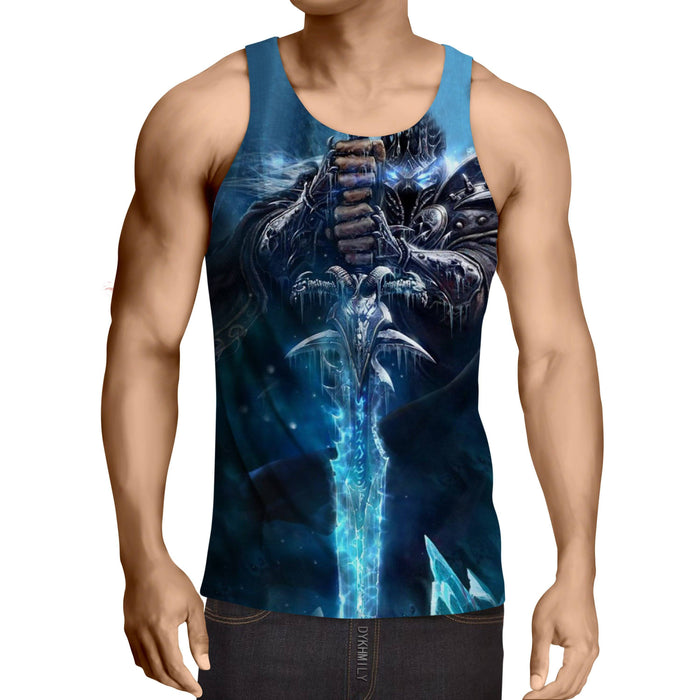 World of Warcraft Frozen Throne Arthas Cool Game Tank Top