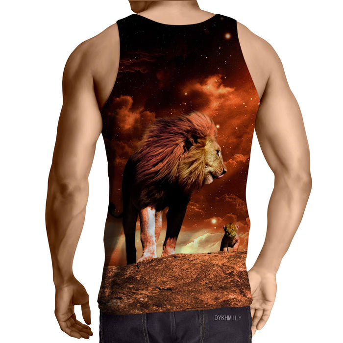 Lion King Real Life Simba Mustafa Son Father Cool Tank Top
