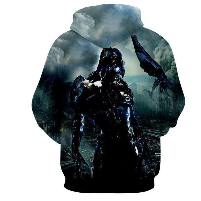 Mass Effect Geth Legion Damage Battle Armor Winter Hoodie