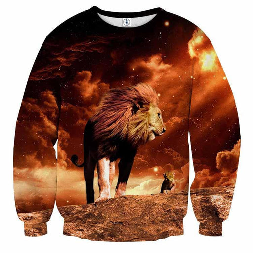 Lion King Real Life Simba Mustafa Son Father Cool Sweatshirt