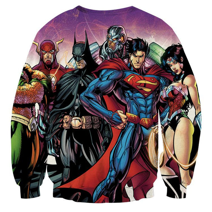 Justice League DC Comics Heroes Dope Team Cool Sweatshirt - Superheroes Gears