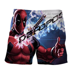 Sexy Deadpool Winking Awesome Portrait Smoke Design Short