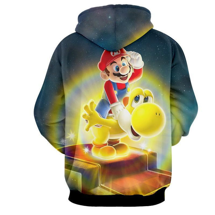 Super Mario Golden Yoshi 3D Design Game Art Dope Hoodie