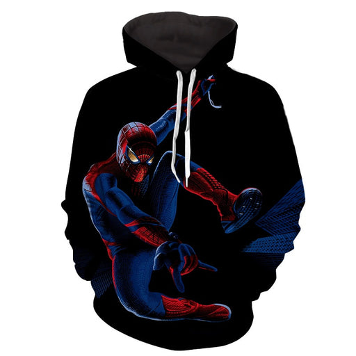 Spiderman Cool Web Shooter Night Time Print Hoodie