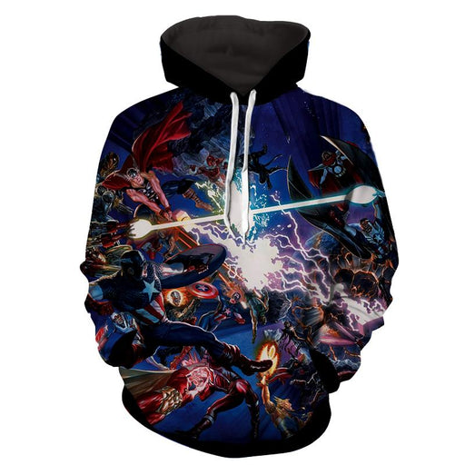Marvel Guardians of the Galaxy Stunning Battle Scene 3D Full Print Hoodie