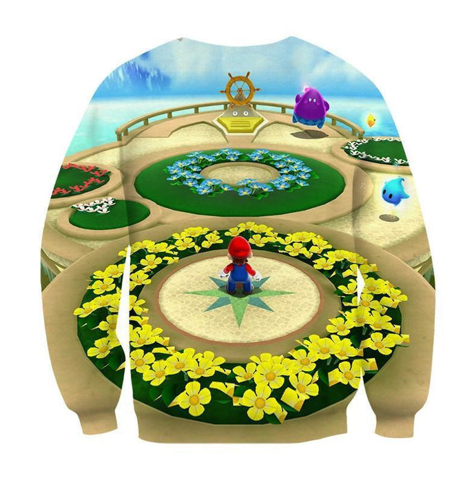 Super Mario Skyship Edition Cool Map Color Style Sweatshirt