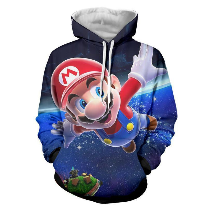 Super Mario Galaxy Awesome 3D Model Full Printed Hoodie
