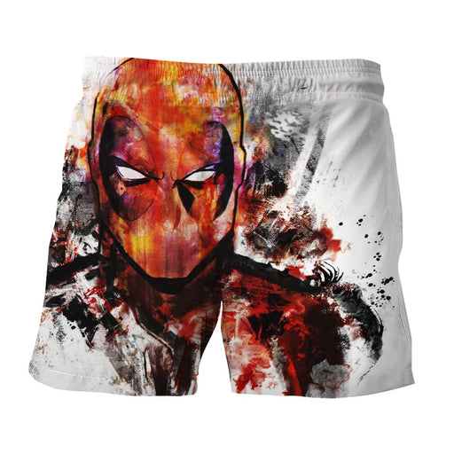Deadpool Marvel Unique Style Fan Art Portrait Awesome Short - Superheroes Gears