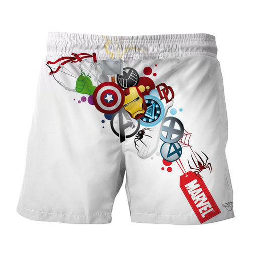 Marvel The Avengers Iron Man Symbols Dope Style Print Shorts