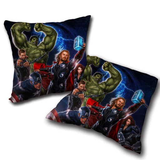 Marvel The Avengers Main Characters Flying Swag Throw Pillow