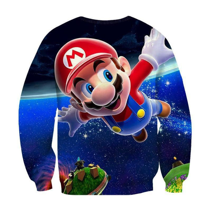 Super Mario Galaxy Awesome 3D Model Full Printed Sweatshirt