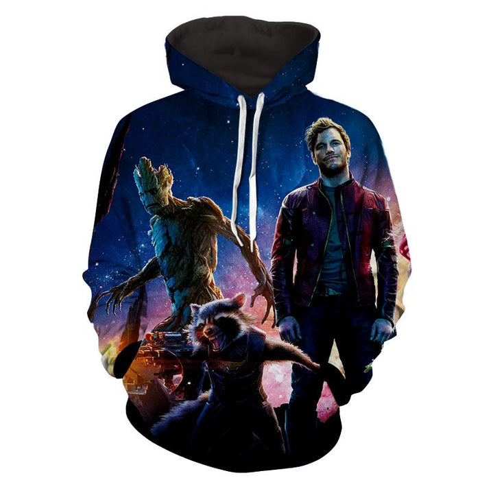 Guardians of the Galaxy Star-Lord Rocket Cool Team Design Hoodie - Superheroes Gears