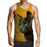 Curious Cat Face Portrait Simple Design Yellow Tank Top - Superheroes Gears