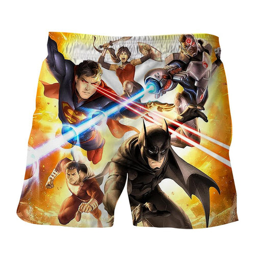 Justice League Super Power Heroes Cool Art Printing Shorts - Superheroes Gears