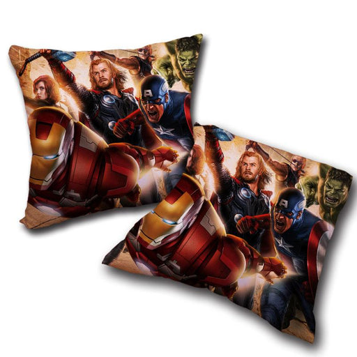 Marvel The Avengers Main Superheroes Fighting Swag Pillow