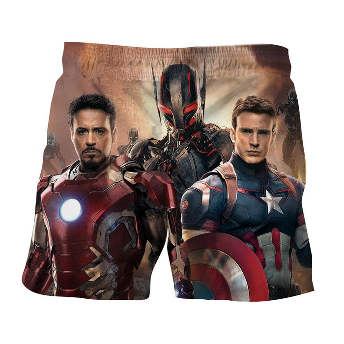 The Avengers Captain America Iron Man Ultron Dope Shorts