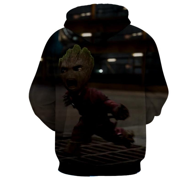 Guardians of the Galaxy Angry Baby Groot 3D Print Design Hoodie - Superheroes Gears