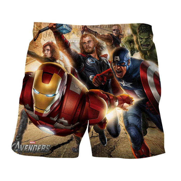 Marvel The Avengers Main Superheroes Fighting Swag Shorts