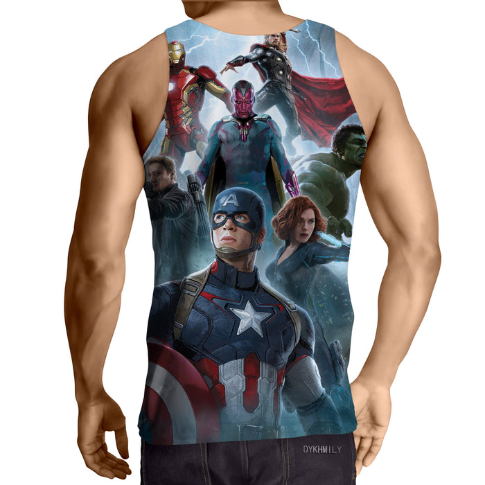 The Avengers Age of Ultron Main Characters 3D Print Tank Top