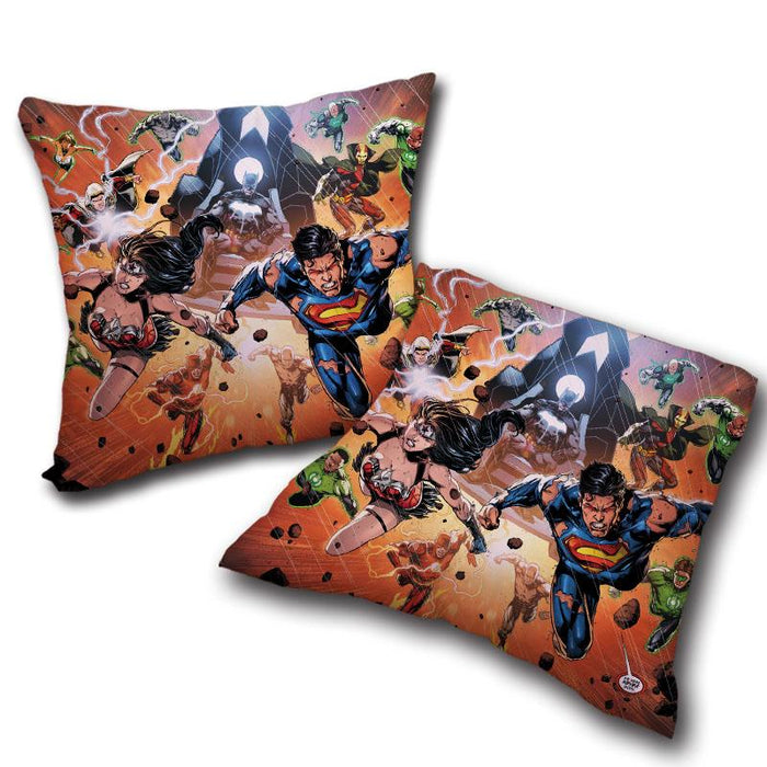 Justice League Heroes Fighting Dope Design Decorative Throw Pillow