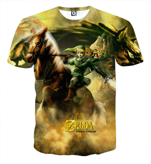 The Legend Of Zelda Impressive Link Fighting Bravely T-shirt