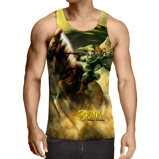 The Legend Of Zelda Impressive Link Fighting Bravely Tank Top