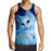 Lady Cat Fluffy Fur Portrait Blue Vibe Cool Tank Top