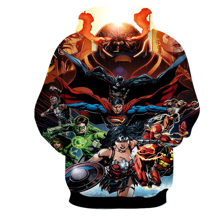 Justice League DC Comics Superheroes Team Awesome 3D Print Hoodie - Superheroes Gears