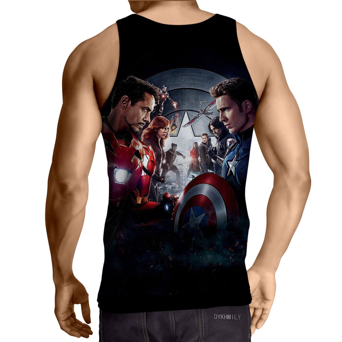 Marvel The Avengers Civil War Main Characters Swag Tank Top