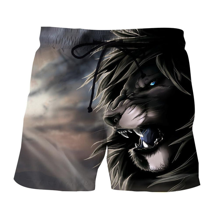 Lion King Scar Cartoon Character Urban Style Shorts